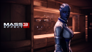 Liara T'soni Wallpaper (Mars) by Strayker