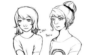 Dan and Phil Genderbend by RavenHeart201