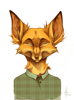 Hipster Fox by xepxyu