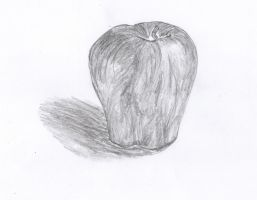 Sketched Apple by Oiiou