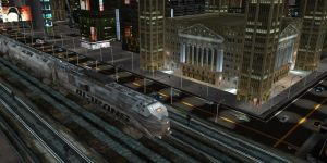 SCIFI CITY train close up2 by scifilicious