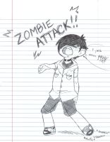 Chibi Zombie Attack by x-steve-x
