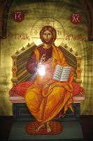 Enthroned Christ by teopa
