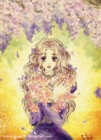 Flowers bloom for you - Violet by hybrid-angel14