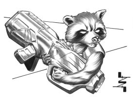 Rocket Raccoon sketch by AlbertoNavajo