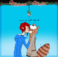 Mistletoe Meme- Maurice and Red by Ask-RedPandaPrincess