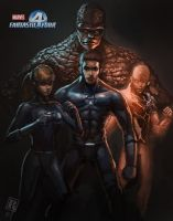 Fantastic  Four cover by Raph04art