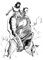 Kitty and Colossus by kevinmellon