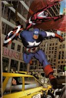 Capitain America and Falcon by comicsofjoebennett