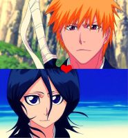 rukia and ichigo love by AmErIk