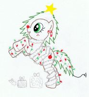 Christmas Tree Pony Colored (sort of)! by PikaWolf18