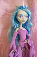 Monster High Custom Ghoulia Unicorn OOAK Medieval by AdeCiroDesigns