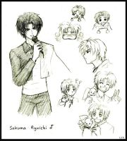Ryuichi character sketches by Lizeth
