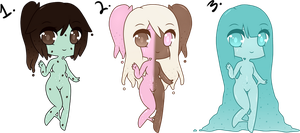 (CLOSED) Point Adoptables: Slime Babies #5 by Acetylace-Adopts
