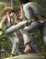 TKD: Mid Roundhouse by Wolfie-chama