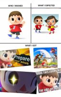 Smash Bros Main: Villager by TheIransonic