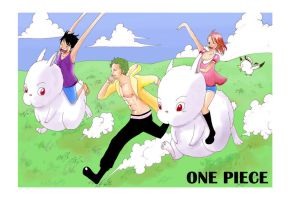 One Piece-Racing Rabbits by DavidAdhinaryaLojaya