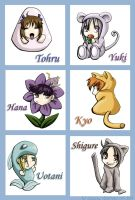 Fruits Basket Chibis: Set 1 by KhamomealTea