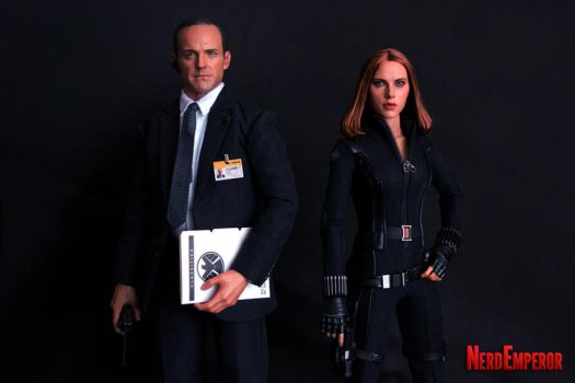 Hot Toys Agent Coulson and Black Widow by ZaEmpera