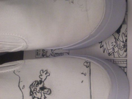 calvin and hobbes shoes by LainPanzer