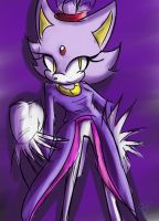 One hour sonic Blaze the cat by Zubwayori