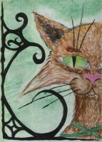 ACEO: There's green in my eyes by Nereaya