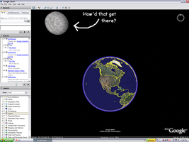 The Moon in Google Earth by YoshiOG1