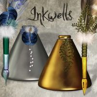 Inkwells by LucieG-Stock