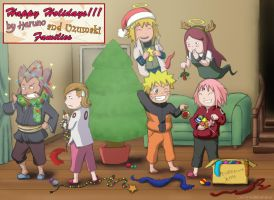 Happy Christmas Holidays 2013! -Colored Sketch- by Bollybauf-chan