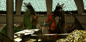 The protectors of the Vial of dragon blood by Flipsie