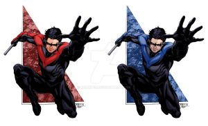 Nightwing SOTD-ratkins Red/Blue colors by RCarter