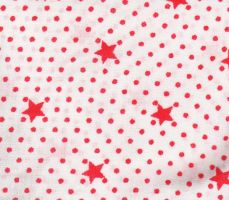 Red dots and stars fabric by morana-stock