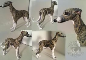 Sighthound Sculpture by RaggedVixen