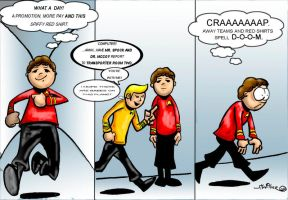 Plight of the Red Shirt by jtwilber1