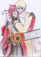 Grell and Ivan: ContestColab by saiyuki-fangirl13