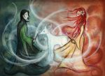 Severus and Lily by vivsters