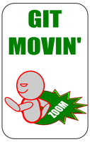 Git Movin' Card For Zombie Run by flowofwoe