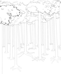 naru-fest background lineart week 2 by myomi-chan