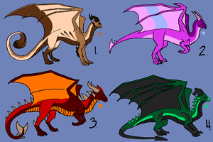 Dragon Hatchlings 1 by Morgan-Michele