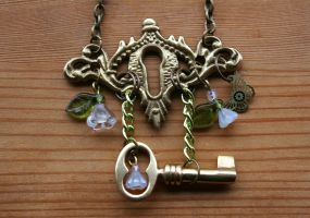 Key to The Secret Garden Necklace by SleeplessStoryteller