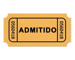 Ticket -boleto- de admision PSD by GianFerdinand