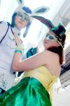 Masquerade Glaceon and Leafeon~ by Mew-Mew-Rocky