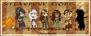 Steampunk Girl Adoptables OPEN 1 left! by AeternaAdoptables