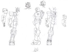 Kansei Gundam Blueprints by Rom-Stol