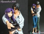 Misato x Kaji resin model by Pyramidcat