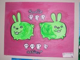 radioactive bunnies yay by I-like-Dirt