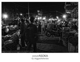 Pasar Asoka at Night by anggaramahendra