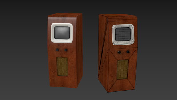 PYE D18T Television - Game Asset by LWNorman