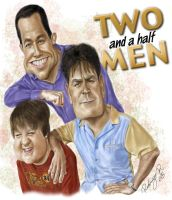 TWO AND A HALF MEN by antupainamku