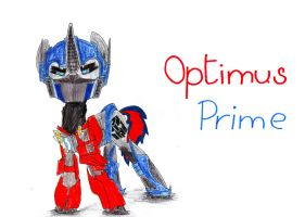 Optimus Prime from Transformers: Prime as a pony by SpeedFeather